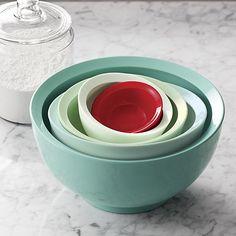 5-Piece Calibowl® Aqua Sky Nonslip Mixing Bowl Set   Crate and Barrel