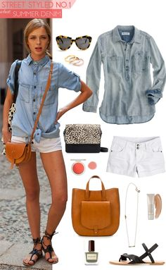 694917b1ea A double denim look for summer! Featuring Madewell