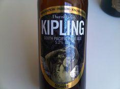 Cerveja Thornbridge Kipling, estilo American Pale Ale, produzida por Thornbridge Brewery, Inglaterra. 5.2% ABV de álcool.