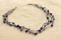 crochet with beads added   crochet with beads (necklace)