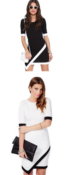 Sexy Women Asymmetrical Bud Irregular Short Sleeve OL Party Dress SIZES XS TO L FREE SHIPPING only 17.99usd