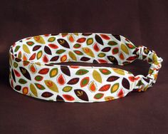 Falling Autumn Leaves Headband Fabric by NewEnglandQuilter on Etsy
