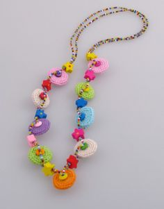 25  OFF SALE  Crochet Summer  Necklace Unique by DreamList on Etsy