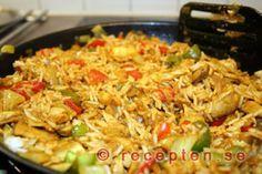 Nasi Goreng - Ett recept på den indonesiska rätten Nasi Goreng. Mycket gott och dessutom nyttigt och enkelt recept!