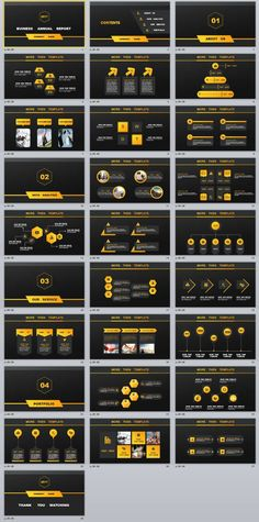 28+ Black Business Annual PowerPoint templates
