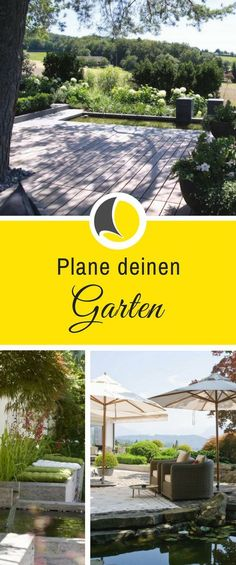 Use garden planner online for free - planungswelten.deWith our garden planners you can easily plan your terrace and outdoor facilities - planning worlds www. Landscape Design Plans, Modern Garden Design, Backyard Garden Design, Amazing Gardens, Beautiful Gardens, Diy Jardin, Garden Online, Garden Types, Diy Garden Projects