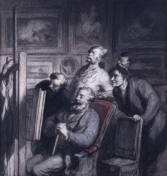Les Amateurs de peinture, Honoré Daumier