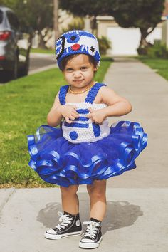 Our little Star Wars Baby. She is the droid we are looking for. ---maybe not crochet