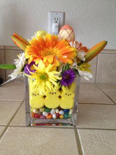 Easter floral arrangement.
