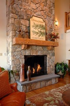 1000+ images about stone fireplace mantels ideas on ...