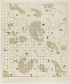 Andrea Branzi, Residential Parking, No-Stop-City, 1969, Floor plan