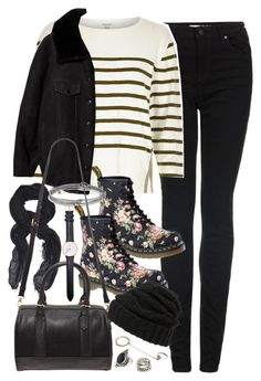"""""""Outfit with Dr Martens for university"""" by ferned on Polyvore featuring Topshop, River Island, rag & bone, Acne Studios, Dr. Martens, David Yurman, Forever 21, Leith, Daniel Wellington and women's clothing"""