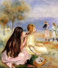 Children by the Sea by Pierre Auguste Renoir - 1894