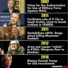 Hillary Clinton's record speaks for itself. If you vote for her, you should probably bend over, put your head between your legs, and lovingly kiss your ass goodbye. She'll get us all killed eventually.