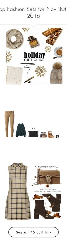 """""""Top Fashion Sets for Nov 30th, 2016"""" by polyvore ❤ liked on Polyvore featuring John Lewis, Burberry, Sugar Paper, Eyeko, Nine West, Apiece Apart, Dondup, Tory Burch, TAKK and Ettika"""