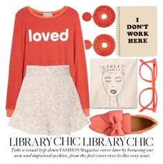"""""""STUDY SESSION: LIBRARY CHIC #2"""" by noraaaaaaaaa ❤ liked on Polyvore featuring Kenneth Jay Lane, BUSCEMI, Dream Scene, Tome, ban.do and librarychic"""