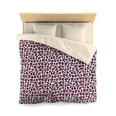 HOT PINK LEOPARD Girls Bedding Duvet Cover
