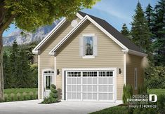 Discover the plan - The Townside 1 from the Drummond House Plans garage collection. Garage plan with loft. Total living area of 1032 sqft. 2 Car Garage Plans, Garage Plans With Loft, Loft Plan, Garage Loft, Garage Ideas, Hinata, Construction Garage, Plane, Gazebo On Deck