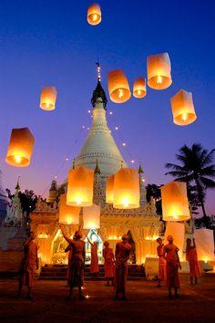 Thailandia. la fiesta de las luces