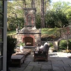 Outdoor Fireplace Landscaping | Maryland Outdoor Fireplace Installation