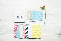 Geometric notecard set by Mulk (printed in the UK on recycled card)