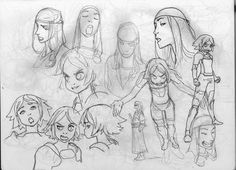Character studies by Joël Jurion (joel27) — drawing character development expressions
