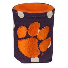 Clemson Tiger Paw Koozie