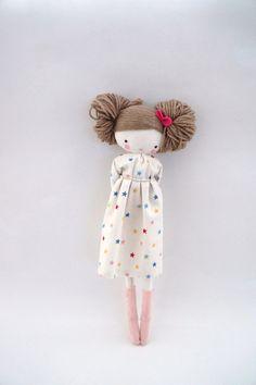 Maria handmade rag doll cloth doll with by lassandaliasdeana