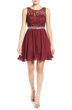 Steppin Out Lace Bodice Fit & Flare Dress available at #Nordstrom
