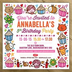 Kids Birthday Party Evite Fresh Childrens Party Invitations by A is for Alphabet Personalised Party Invitations, Girls Party Invitations, Printable Birthday Invitations, Invitation Ideas, Invitation Templates, Invites, Printable Party, Wedding Invitations, Birthday Template