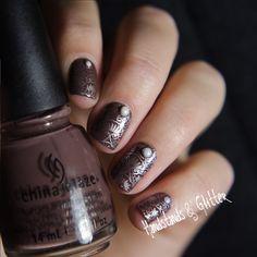 handstands & glitter: [Lieblingsbuntes] China Glaze - Foie Gras + Born Pretty Stamping