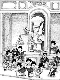 Quino - ¡Yo no fui! (I Didn't Do It!, 1994) Humor Grafico, Cartoon Art, Caricature, Illusions, Grande, Vintage World Maps, Illustration Art, Memes, Culture