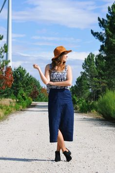 Le Trendy Charm: HOW TO WEAR A DENIM MIDI SKIRT (PART II)