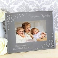 b7e7242ca95b A beautiful diamante effect mirrored Glass Frame. You can personalise with any  message over 3