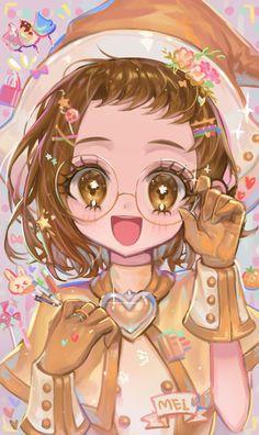 Anime Girl Drawings, Kawaii Drawings, Cute Drawings, Pencil Drawings, Digital Art Anime, Anime Art, Doremi Anime, Ojamajo Doremi, Chibi Girl