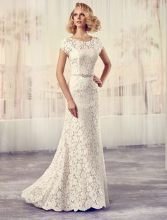 Checking out Modeca saffron wedding dress on Glamourous Gowns.