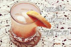(favorite) Peach Grapefruit Arnold Palmer