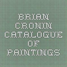 Brian Cronin catalogue of paintings
