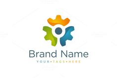 Logo design with concept of cogwheel split into three separate parts. Bookmark Template, Journal Template, Triquetra, Page Design, Book Design, Design Ideas, Light Bulb Logo, Initial Logo, Binder Templates