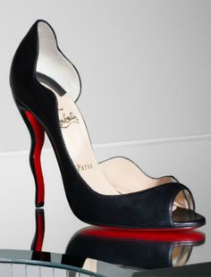 Louboutin Open Toe d'Orsay Pump - Thank you for following my board Little Black Dress.  ~Sheree~