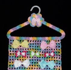 A crocheted jewelry holder What a great idea and the pattern is