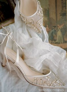 Crystal embellished ivory wedding shoes low heel kitten heels with milky teardrop stones, beads and cross ankle straps. Converse Wedding Shoes, Sparkly Wedding Shoes, Wedge Wedding Shoes, Wedding Heels, Bride Shoes, Ivory Wedding, Ankle Strap Heels, Ankle Straps, Lace Heels