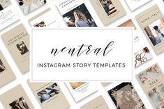 Neutral Instagram Story Templates by Dana Nicole Designs on @creativemarket