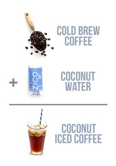 Coconut Water Iced Coffee -- delicious cold brew coffee is naturally sweetened with the delicious taste and hydrating benefits of coconut water   gimmesomeoven.com #vegan #glutenfree