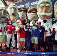 FAMILY member, Debbie, and her family meeting the presidents at the Washington Nationals game!