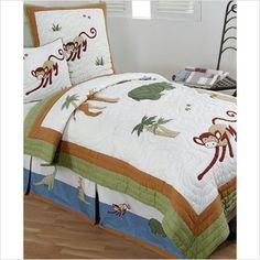 Monkey Bedding - Jungle Monkey Quilt Set