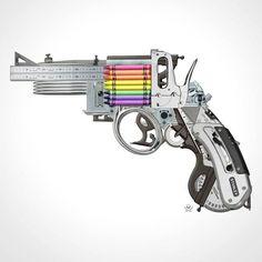 Creative Gun by @markfitzart #StreetArtGlobe #StreetArt www.UpFade.com