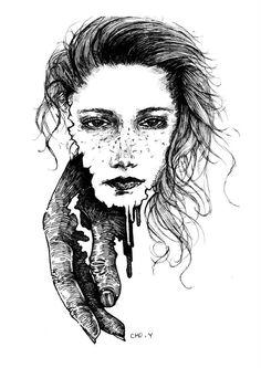 pen illustration melting