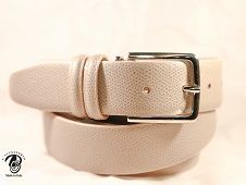 cintura artigianale in pelle palmellata cm 30