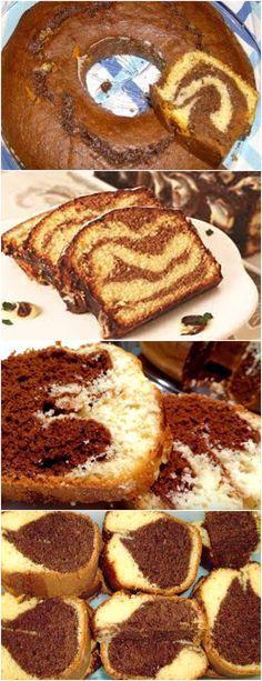 BOLO MÁRMORE ALÉM DE LINDO, SIMPLES E DELICIOSO!! VEJA AQUI>>>No liquitificador bata os ovos, o açúcar e a margarina Acrescente o leite aos poucos e a farinha de trigo, coloque o fermento #receita#bolo#torta#doce#sobremesa#aniversario#pudim#mousse#pave#Cheesecake#chocolate#confeitaria